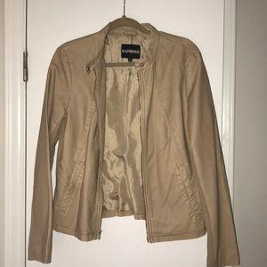 Tan Express Zippered Jacket - size large